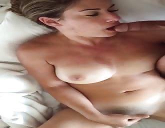 tasty masturbating scene with blowjob