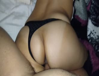 Awesome Latin ass doggy screwed from ass