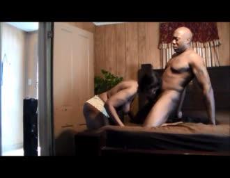 ebony home-made couple having sex