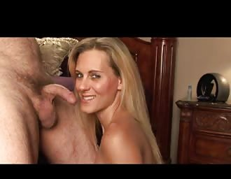 tasty light-haired MOM slurping rod
