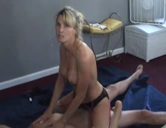 spouse talking naughty while her partner films