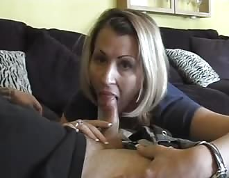 sweet charming MOM blowing and swallowing my sperm