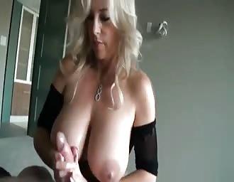 milf with huge boobies having fun