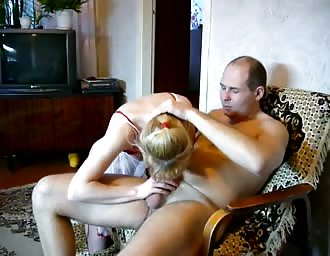 Married Russian homemade couple penetrating