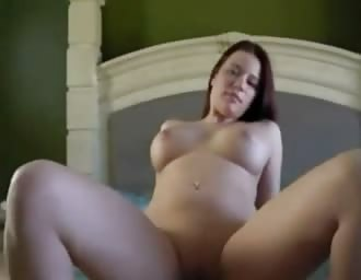 Busty chick pounding with BF