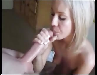 sweet cute eyed companion sucking schlong