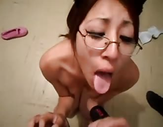 pretty lady with glasses sucking banging