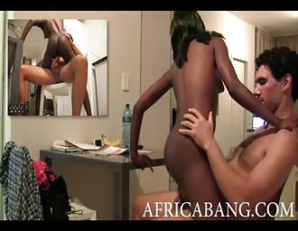 African girl and our first porn broadcast
