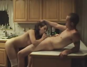 teen couple fuck on kitchen counter