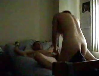 Femdom broad ties up her stud and rides him to climax