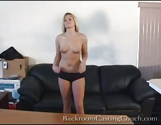 delicious golden-haired drilled hard in sex audition