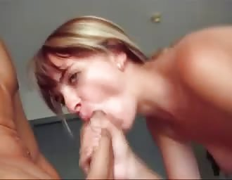 Tightest snatch takes a huge dick creampie and he licks it up