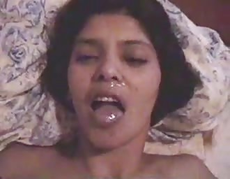 cutie Indian chick gets semen on face
