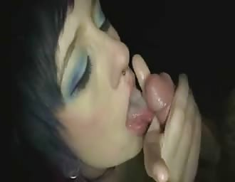 Serious gloryhole fetish turns her on
