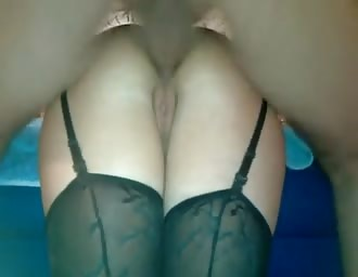broad with stockings got her anal fucked