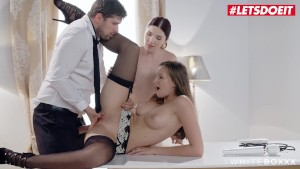 LETSDOEIT - nasty ex-wife Ties the Maid And Lets Her spouse ass Fuck Her
