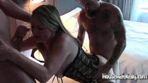 Beautiful wife shared with 3 guys in hot hotel room (1)
